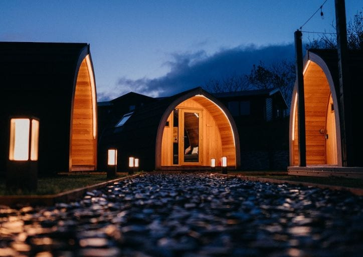 Glamping pods getaway in Scotland