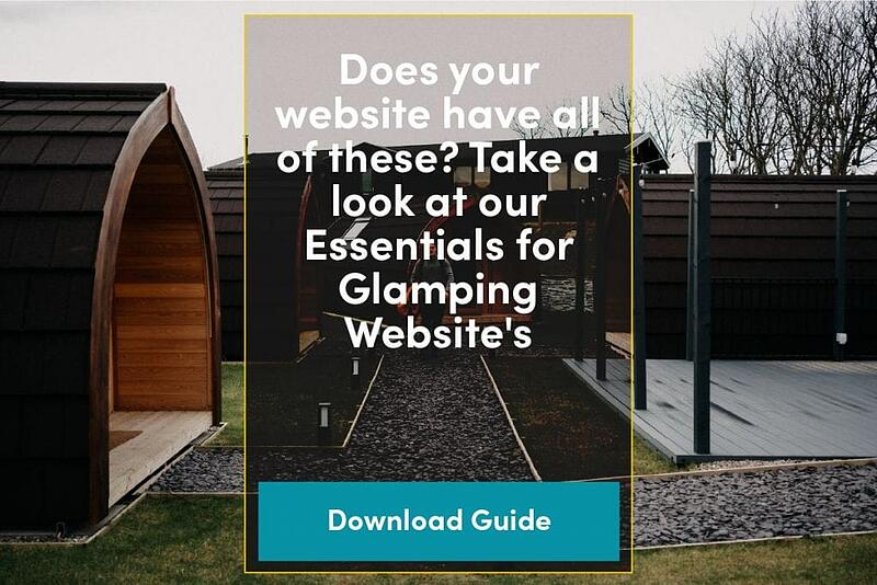 glamping website direct booking downloadable cta