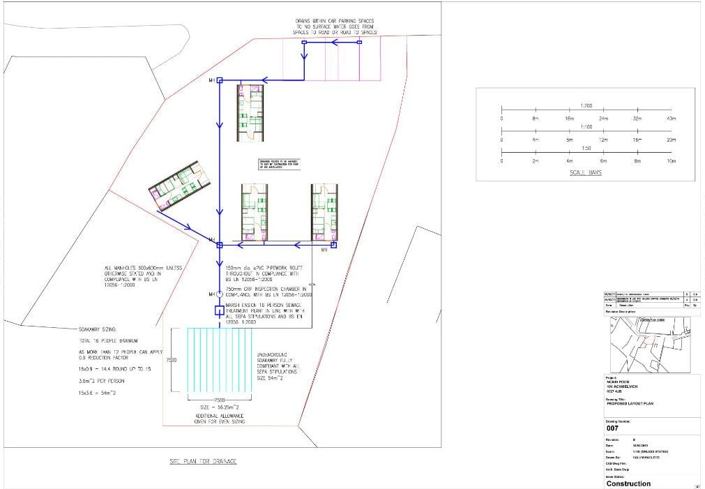 Image of Drainage layout essential for glampin site planning permission
