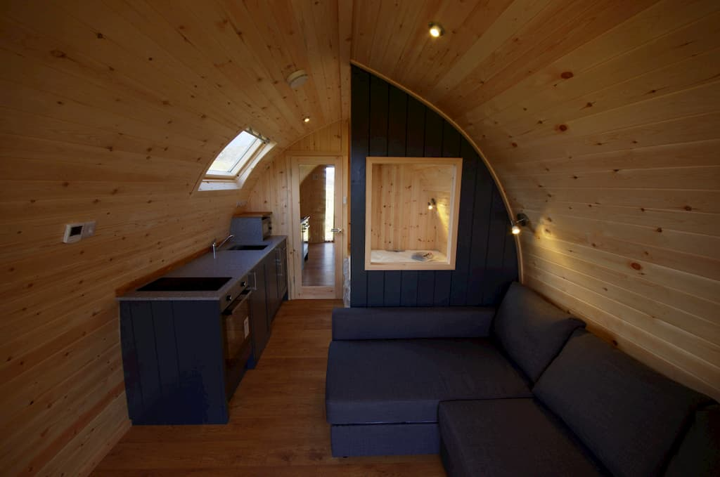 Inside view of Glampitect Glamping Pod Design. Starting a glamping business