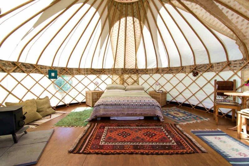 Market glamping yurts