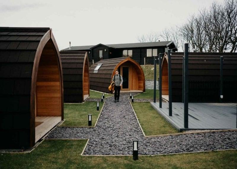 Modern design Glamping Pods site