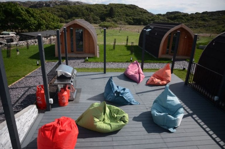 Communal area of NC500 pods