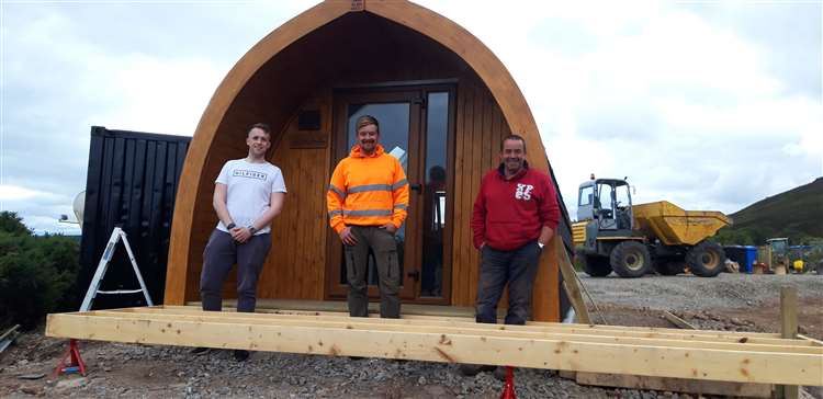 Glamping Pods Site under construction