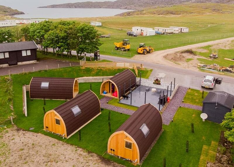 Example of Glamping Pods Site