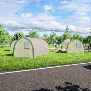 Glamping Site planning permission drawings