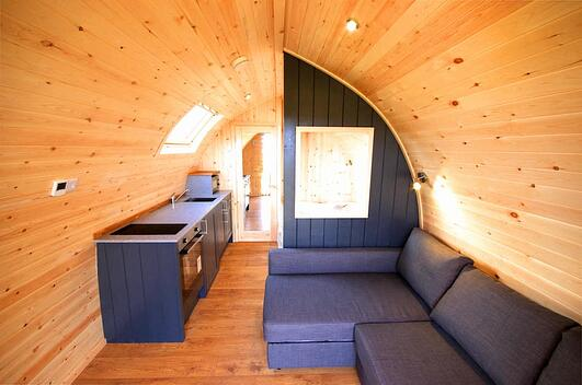 Example of what it's like inside Glamping pod