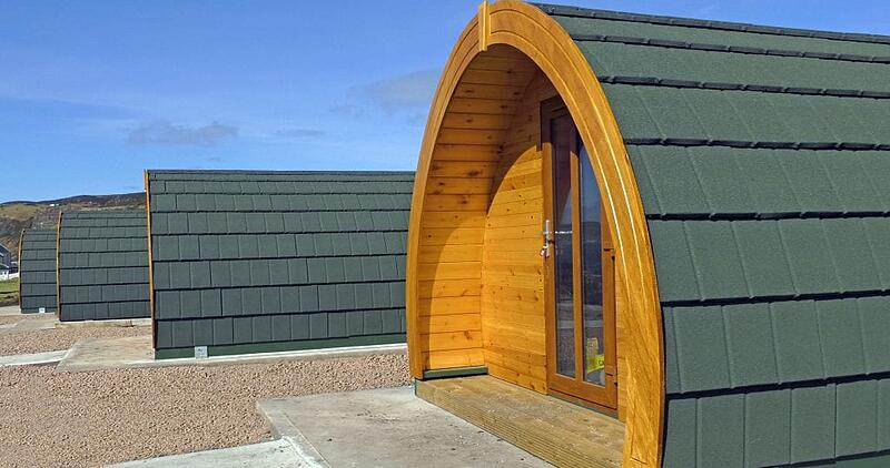 Modern hut style Glamping Pods