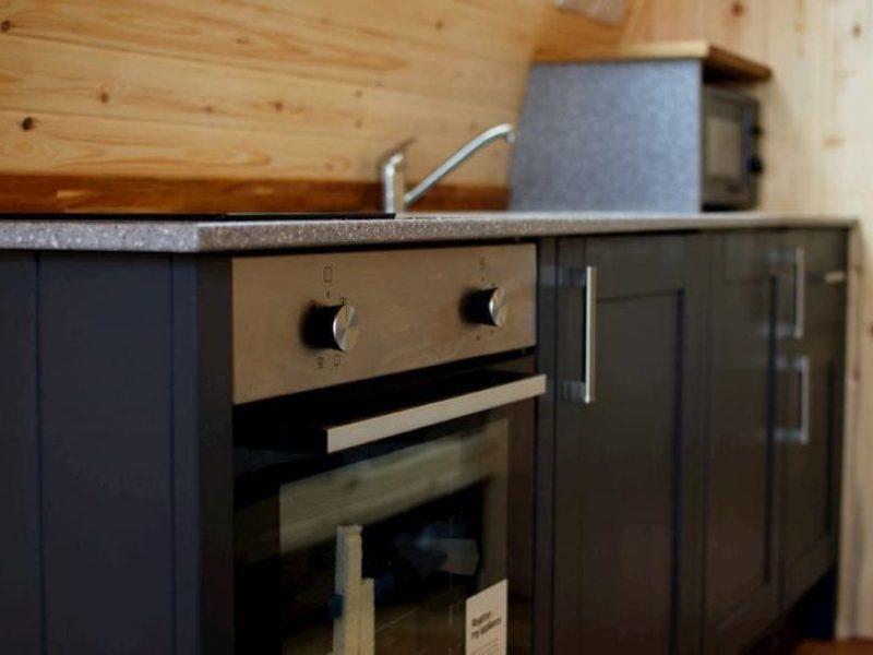 Glamping Pod kitchen amenities