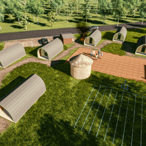 Visual Glamping Pods Site Design. Starting a glamping business
